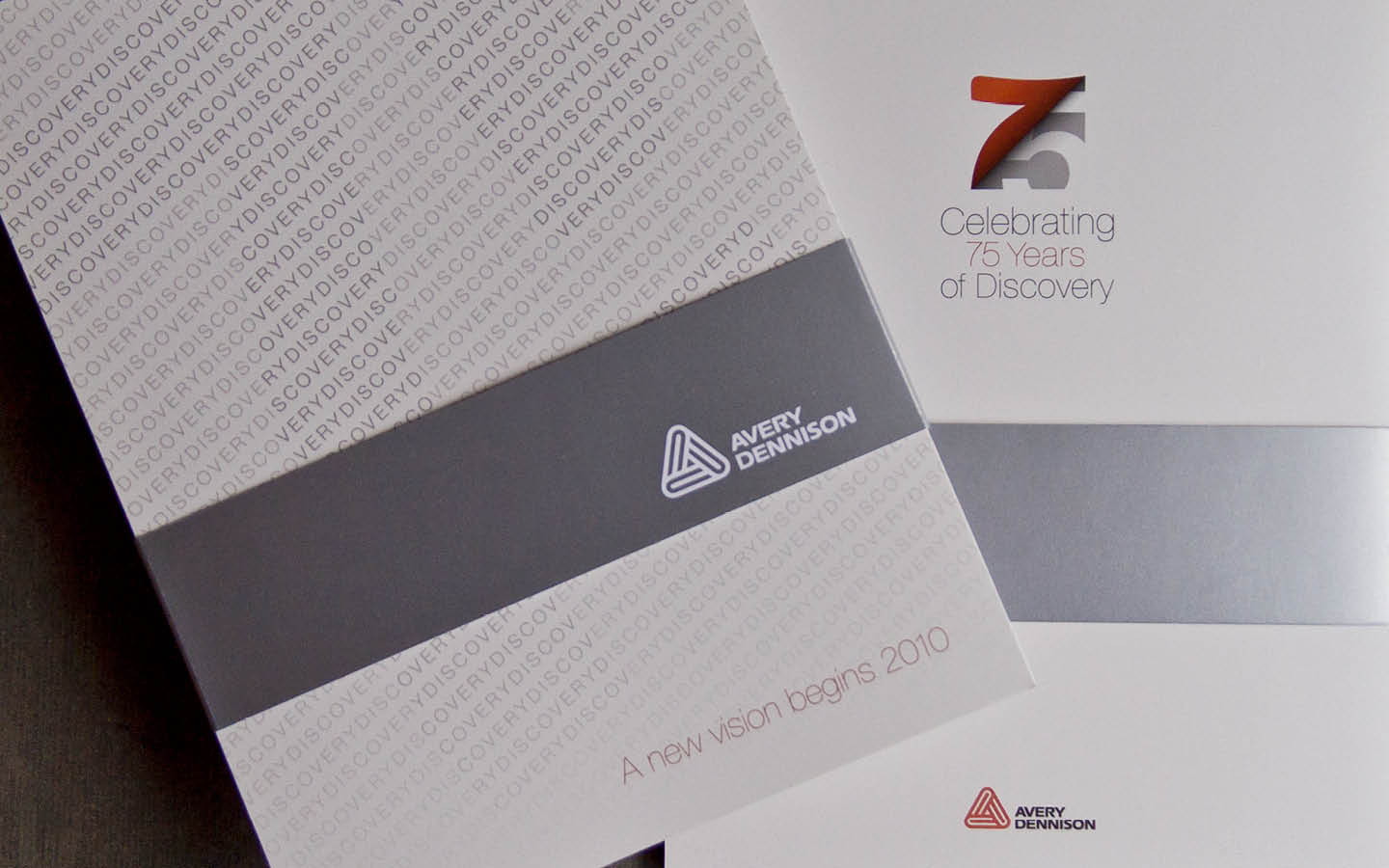 Avery Dennison 75th anniversary printed timeline cover