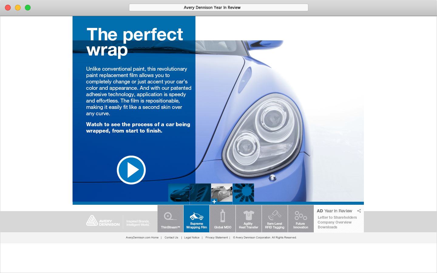 Avery Dennison 2011 Online Year In Review Supreme Wrapping Film The perfect wrap